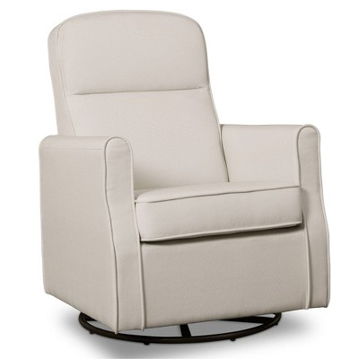 Delta Children Blair Slim Nursery Glider Swivel Rocker Chair - White