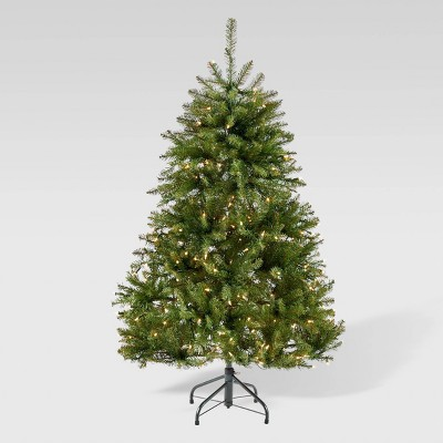 4.5ft Fraser Fir Hinged Artificial Christmas Tree Clear Light - Christopher Knight Home