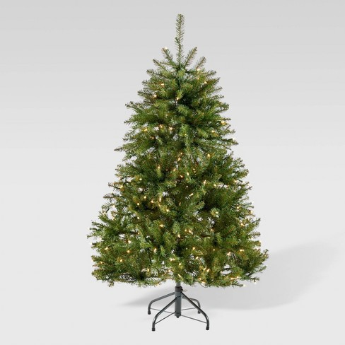 4.5ft Fraser Fir Hinged Artificial Christmas Tree Clear Light - Christopher Knight Home - image 1 of 4