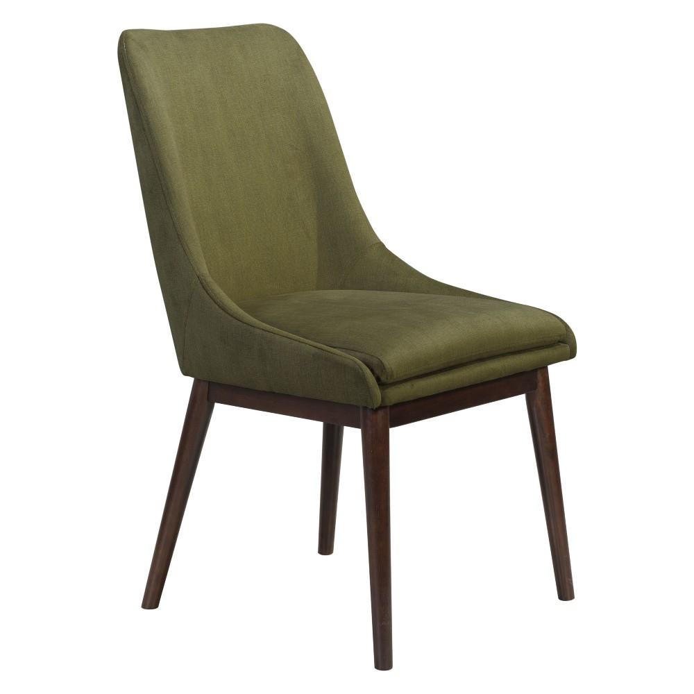 Modern Dining Chair Set of 2 Emerald Green - ZM Home