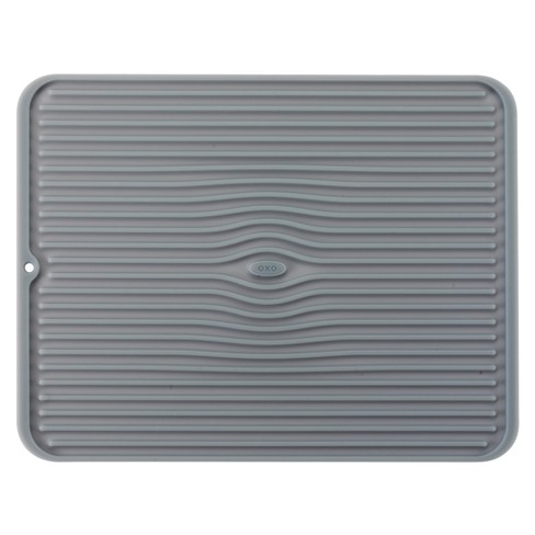 Oxo Silicone Dish Drying Mat Gray Large