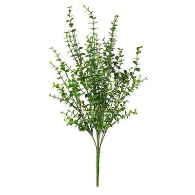 "Vickerman 20"" Artificial Green Mini Jade Leaf Bush. UV Coated, Set of 4"