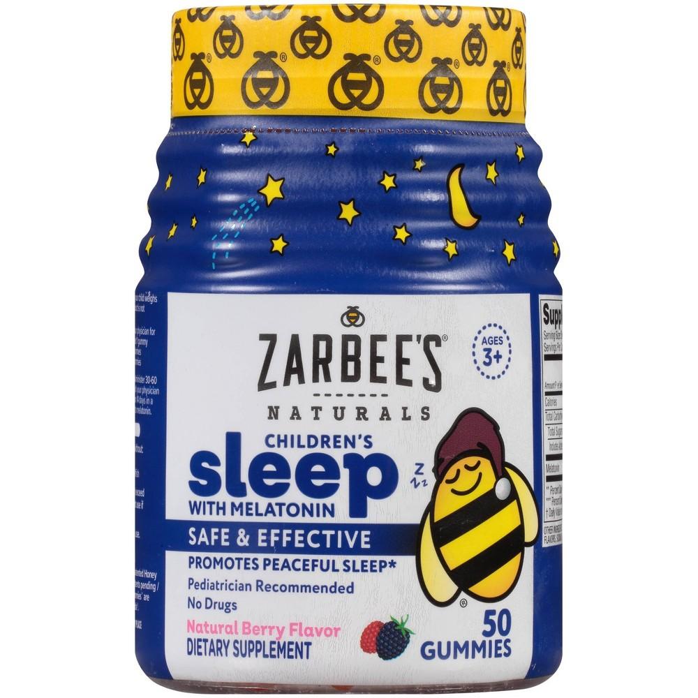 Zarbee S Naturals Children S Sleep With Melatonin Gummies Natural Berry 50ct