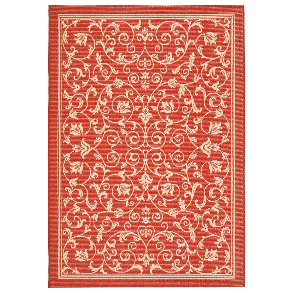 Vaucluse Rectangle 8' X 11' Patio Rug - Red / Natural - Safavieh, Red/Natural