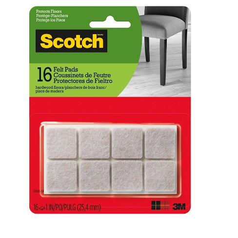 Scotch Felt Pads Beige Square 1 inch - image 1 of 3