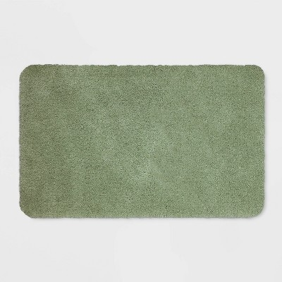 "23""x37"" Performance Nylon Bath Rug Dark Sage Green - Threshold™"