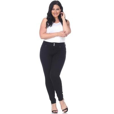 Women's Plus Size Super Stretch Black Denim - White Mark