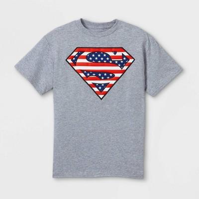 Boys' Superman Short Sleeve Graphic T-Shirt - Heather Gray