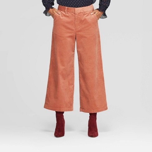 Women's High-Rise Wide Leg Cropped Corduroy Pants - A New Day™ - image 1 of 3