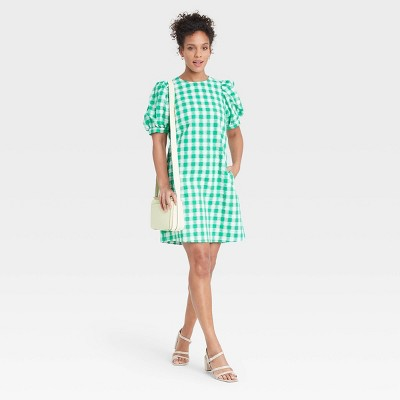 Women's Puff Short Sleeve Dress - A New Day™