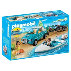 Playmobil Surfer Pickup with Speedboat Playset