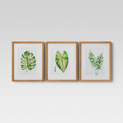 "(Set of 3)16"" x 20"" Leaf Framed Wall Print - Threshold™"