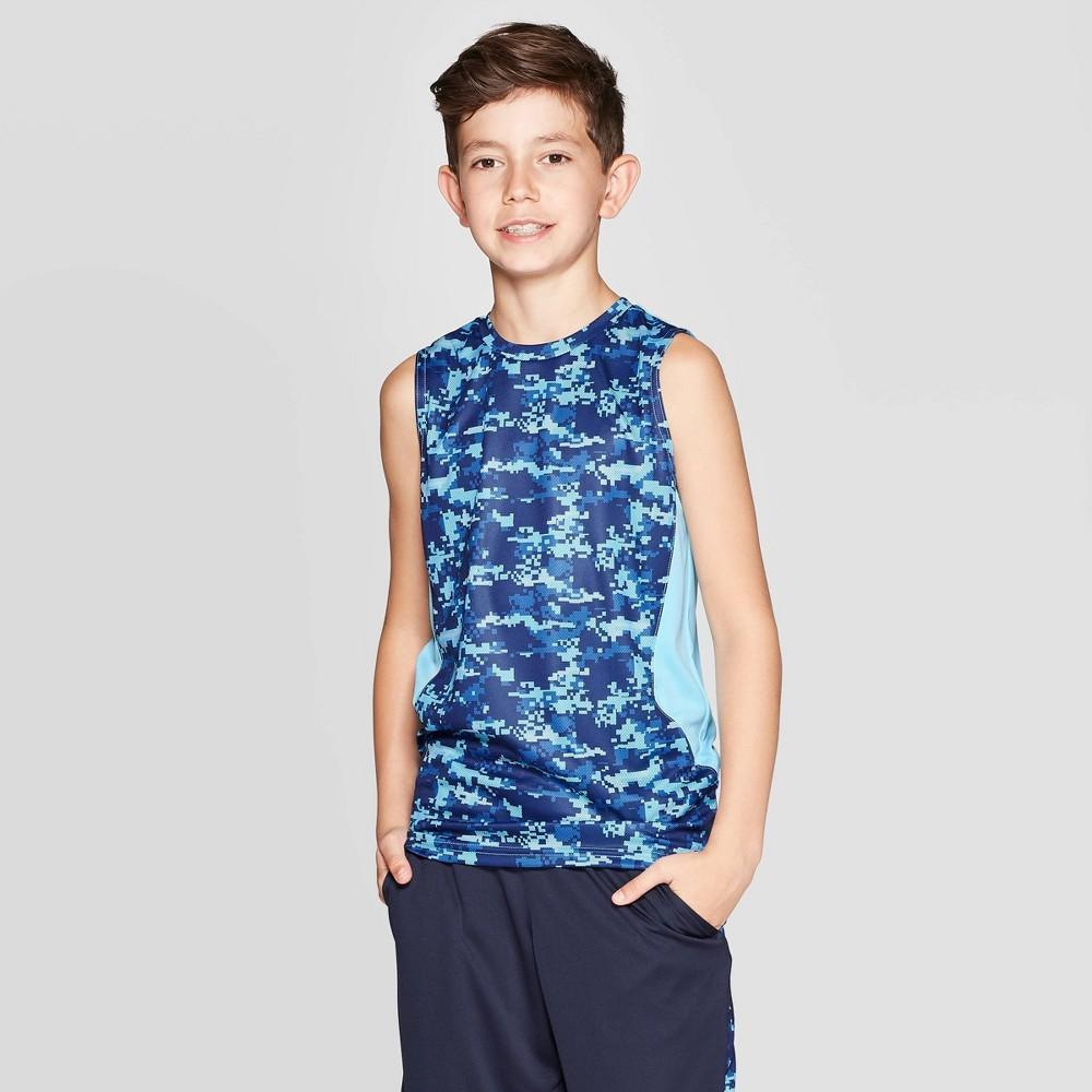 Image of Boys' Camo Print Sleeveless T-Shirt - C9 Champion Blue XS, Boy's