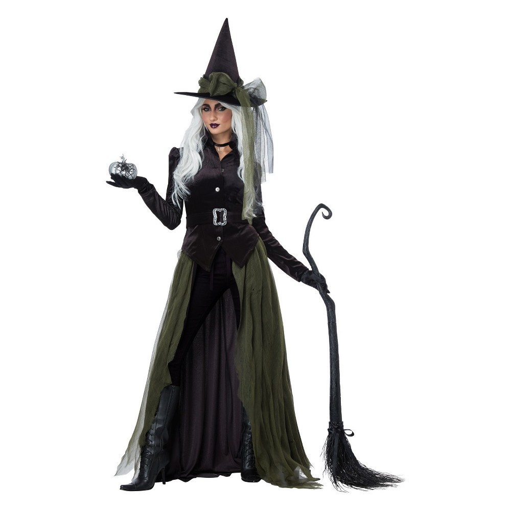 Image of Halloween Women's Gothic Witch Halloween Costume L, Size: Large, MultiColored