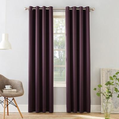 "84""x54"" Seymour Room Darkening Grommet Curtain Panel Plum - Sun Zero"