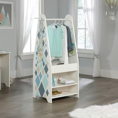 Pinwheel Kids Open Wardrobe Soft White Finish - Sauder