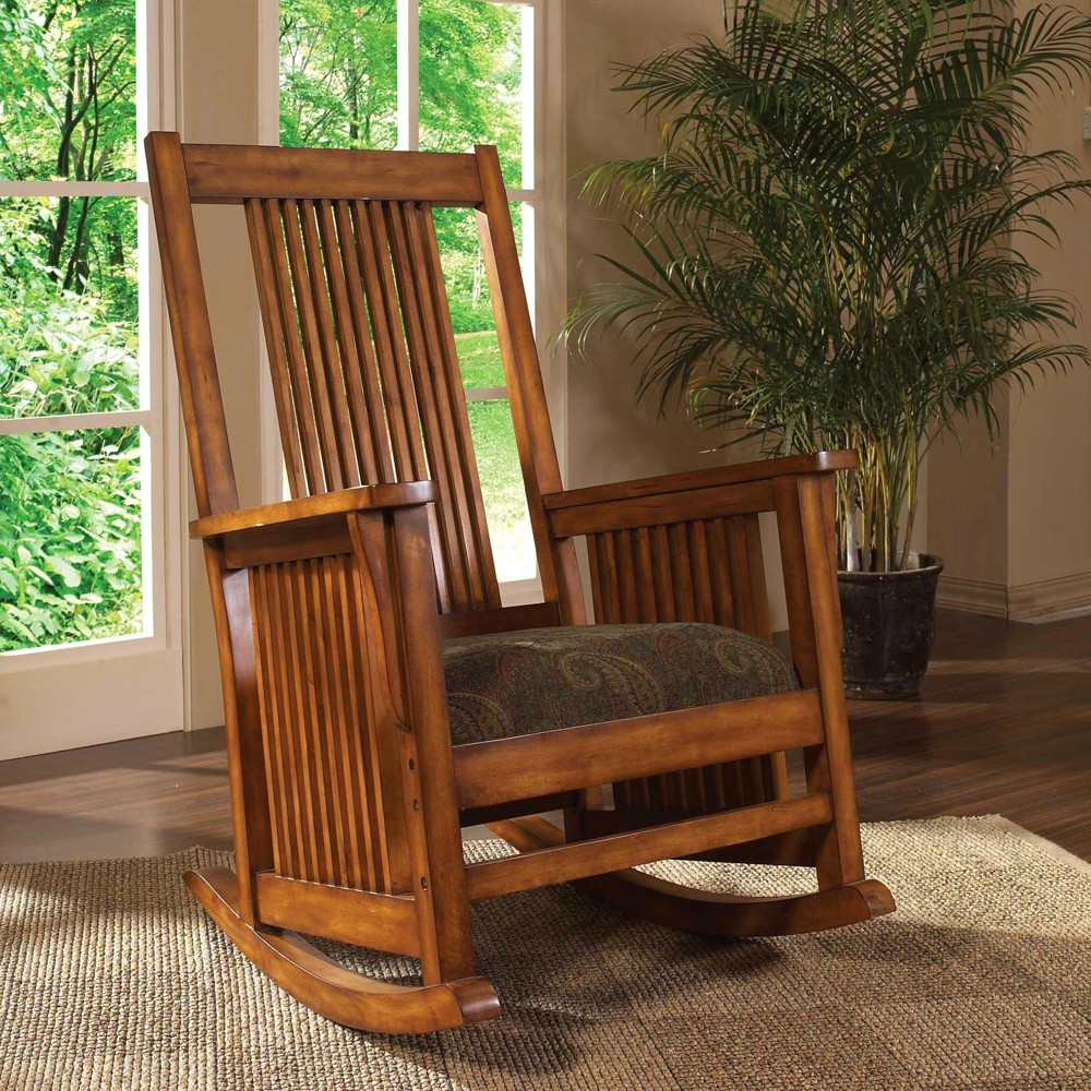 Shelford Spindle Rocking Chair - Brown