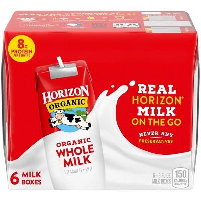 Horizon Organic Whole Milk - 6pk/8 fl oz Boxes