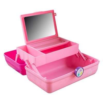 Caboodles On the Go Girl Pink over Rose Make up Bag