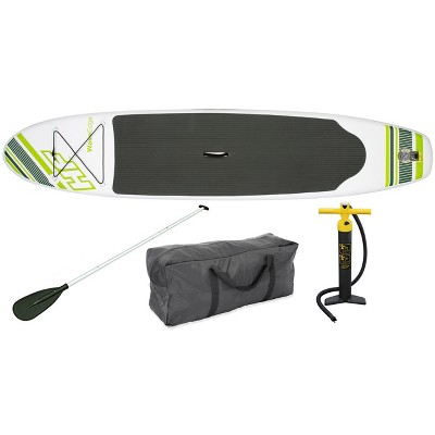Bestway Hydro Force Wave Edge 122 x 27 Inch Inflatable Stand Up Paddle Board with Aluminum Oar, Inflation Pump, Repair Kit, and SUP Travel Bag, Green