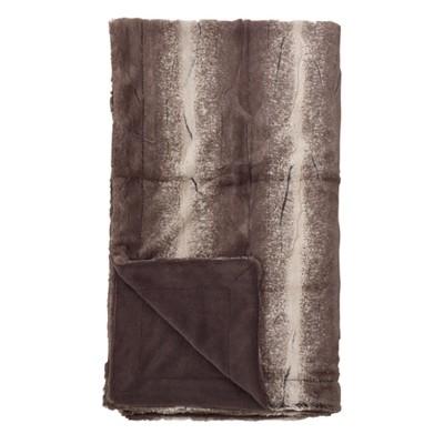 """50""""x60"""" Animal Print Design Soft Plush Faux Fur Throw Blanket Brown - Saro Lifestyle"""