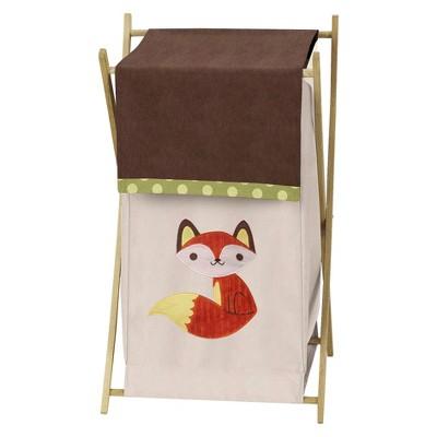 Sweet Jojo Designs Forest Friends Laundry Hamper- Green-Orange-Brown-Yellow-Buff