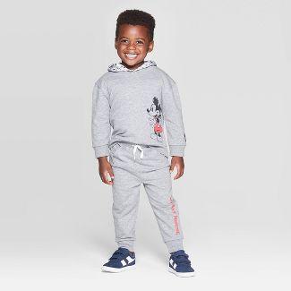 Toddler Boys' Disney Mickey Mouse 2pc Hoodie Set - Gray 4T