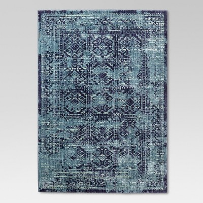 5'x7' Overdyed Area Rug Turquoise - Threshold™