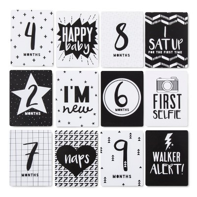 Milestone Cards 12pk (4 x6 )- Cloud Island™ - Black/White