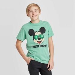 Boys' Disney Mickey Shades Flip Sequin St. Patrick's Day T-Shirt - Green