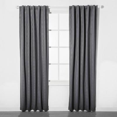 Mesh Blackout Curtain Panel Gray (42 x84 )- Pillowfort™