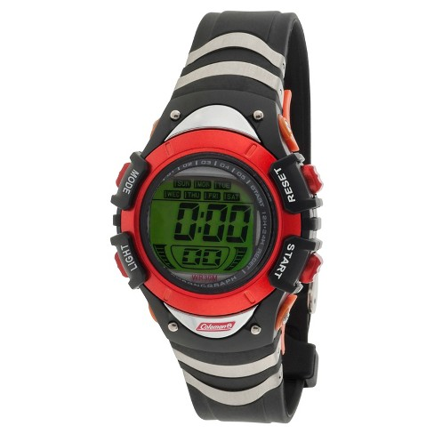 Boys' Coleman Digital Strap Watch - Black/Orange - image 1 of 1