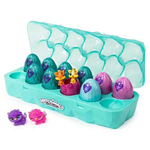 Hatchimals CollEGGtibles Jewelry Box Royal Dozen 12pk Egg Carton with 2 Exclusive Hatchimals - image 1 of 4