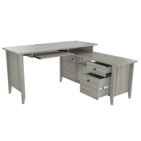 L Shaped Computer Writing Desk Gray - Inval - image 1 of 4