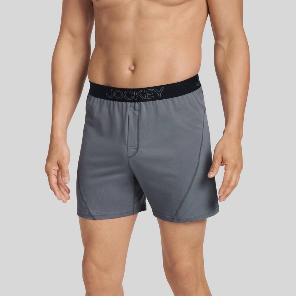 Image of Jockey Generation Men's No Bunch Boxer Shorts - Lantern Gray XL, Lantern Grey