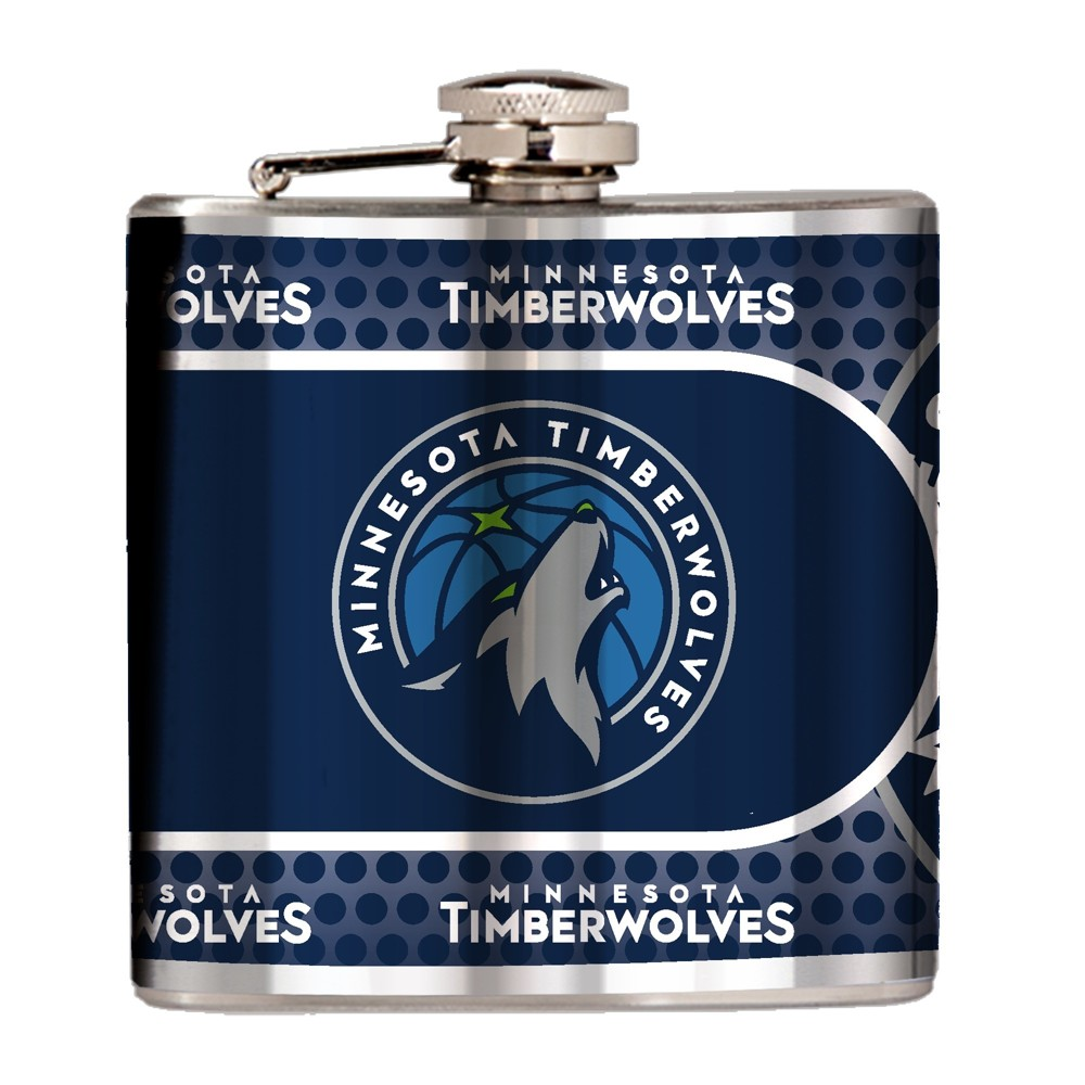NBA Minnesota Timberwolves 6oz Stainless Steel Flask