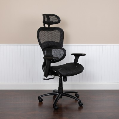 Flash Furniture Ergonomic Mesh Office Chair with 2-to-1 Synchro-Tilt, Adjustable Headrest, Lumbar Support, and Adjustable Pivot Arms