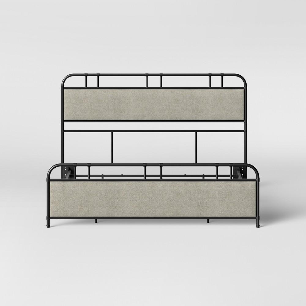 Bridgton Metal Upholstery King Bed Black - Threshold