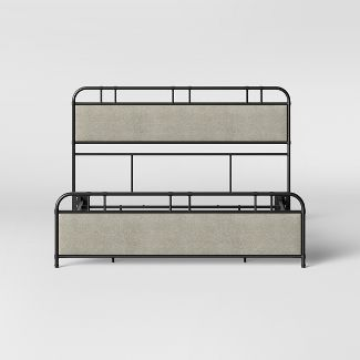 Bridgton Metal Upholstery King Bed Black - Threshold™