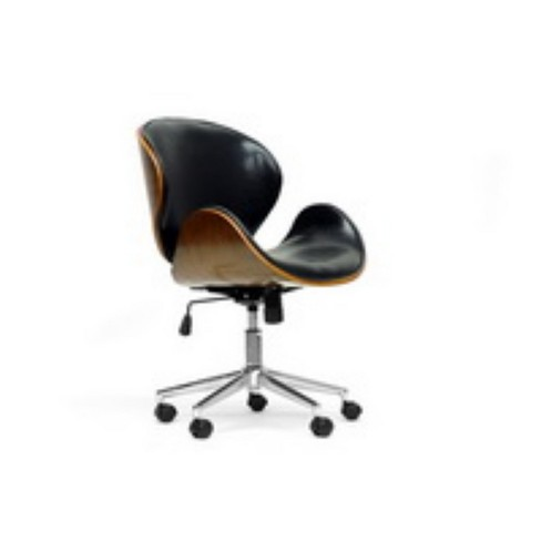 Espresso Finished Bruce and Modern Office Chair Black/Brown - Baxton Studio - image 1 of 4