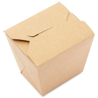 Stockroom Plus 60 Pack Chinese-style Take Out Boxes, Kraft Brown To Go Food Containers (16 oz)