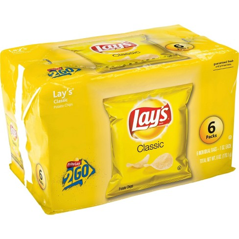 Lay's Classic Potato Chips - 6ct - image 1 of 4