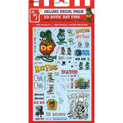 """""""Ed Roth Rat Fink"""" Decal Pack for 1/25 Scale Models by AMT"""