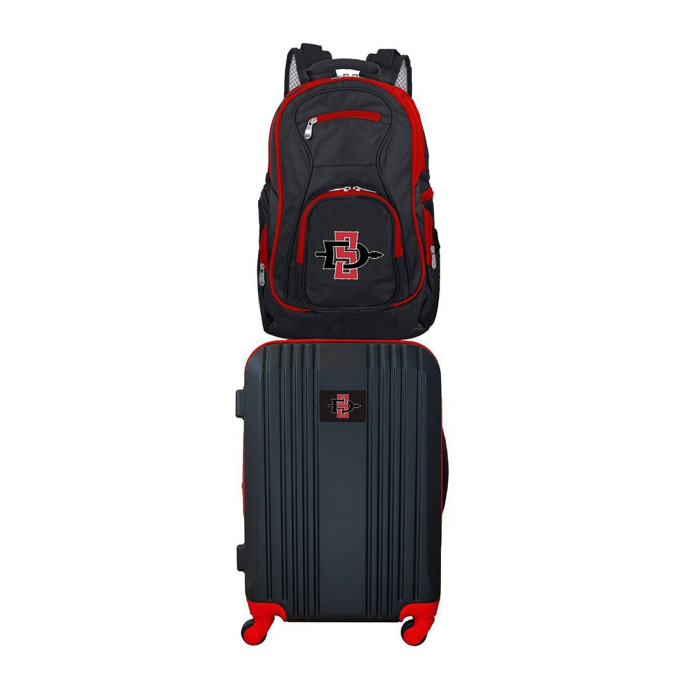 NCAA San Diego State Aztecs Premium 2pc Backpack & Carry-On Luggage Set