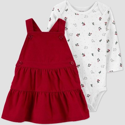 Baby Girls' 2pc Floral Top & Bottom Set - Just One You® made by carter's Red 9M