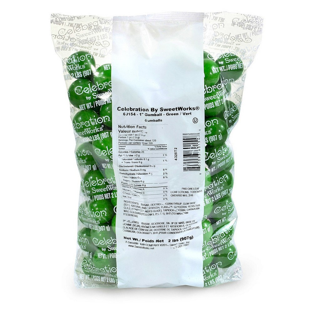 SweetWorks 1 Green Gumballs - 2lbs