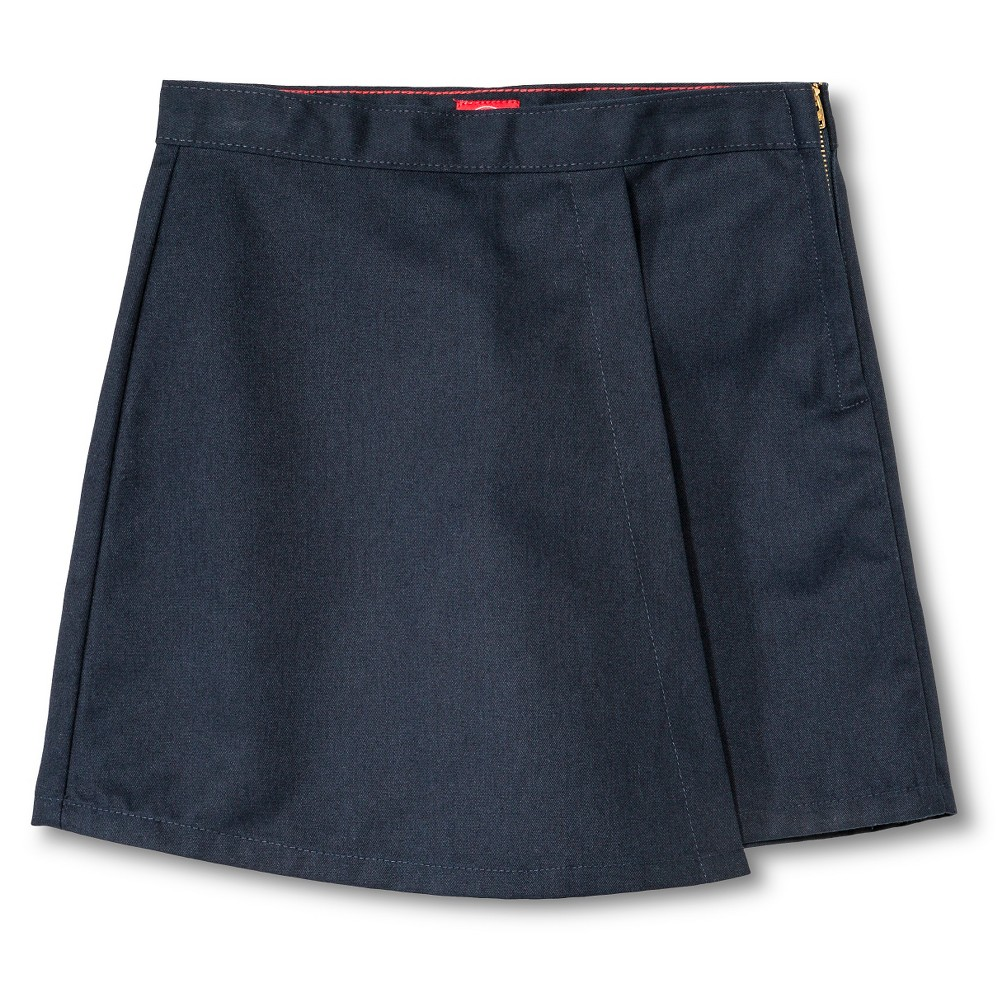 Dickies Little Girls' Faux Wrap Skort - Dark Navy 6X, Blue