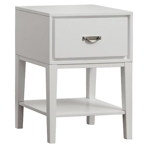 Burnett Accent Table White - Inspire Q - image 1 of 4