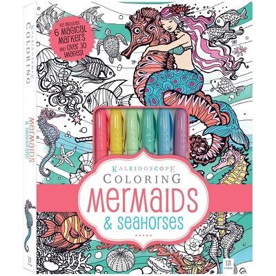 Kaleidoscope Coloring Kit: Mermaids & Seahorses - Hinkler Books