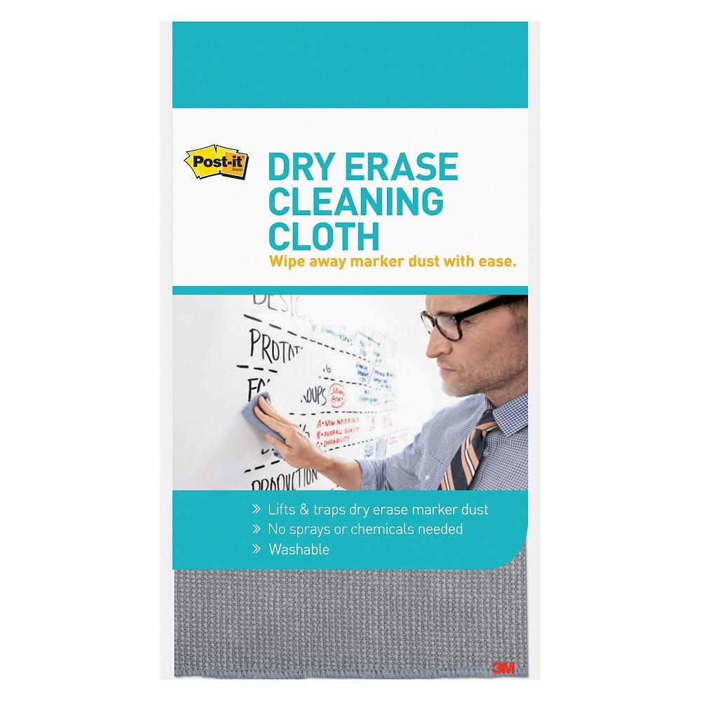 Post - it Dry Erase Cloth - Fabric - 10 5/8w x 10 5/8d, Blue